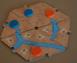 Cartography Board Game Wood Edition Six Land Tile Designs