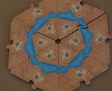 Cartography Board Game Wood Edition Ring Hexagon Ring