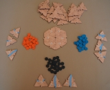 Cartography Board Game Wood Edition Game Play with Random Drawing