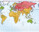Strategy Game - World Map in Moral Conflict Strategy Game