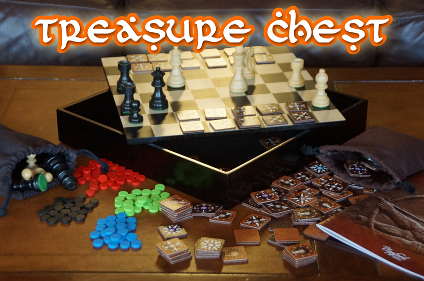 Chess & More Treasure Chest - Collection of Abstract Strategy Games