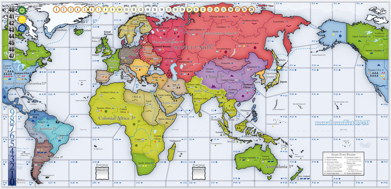 Moral Conflict 1940 Strategy Board Games