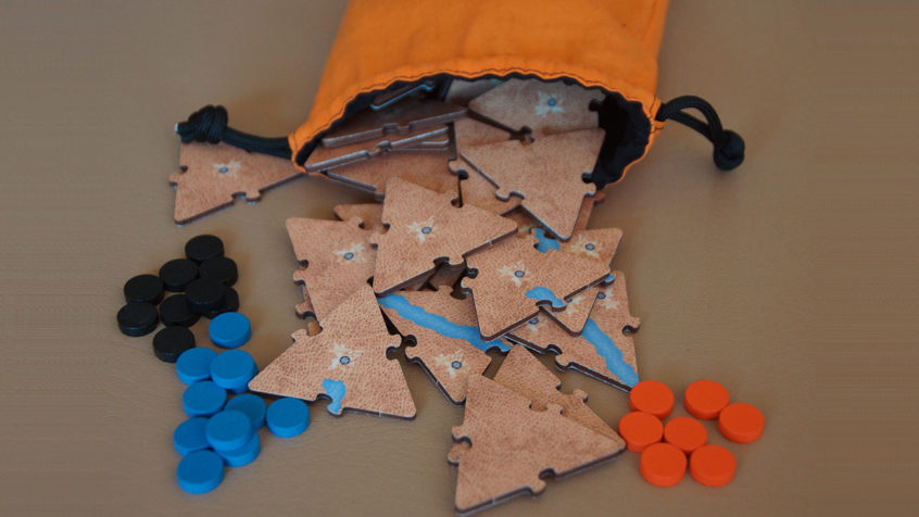 Cartography Games Orange Bag Pour Tiles